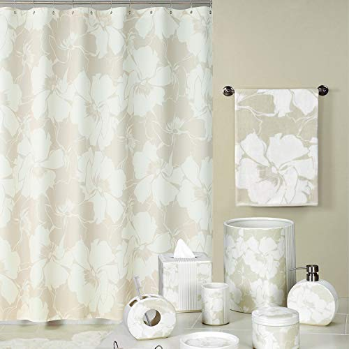 (DS BATH Graphic Floral Mildew Resistant Polyester Waterproof Fabric Shower Curtain,Printing Shower Curtains Bathroom,Decorative Bathroom Curtains,72