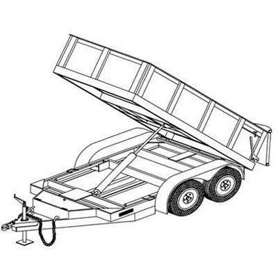Hydraulic Dump Trailer Blueprints by Northern Tool & Equipment