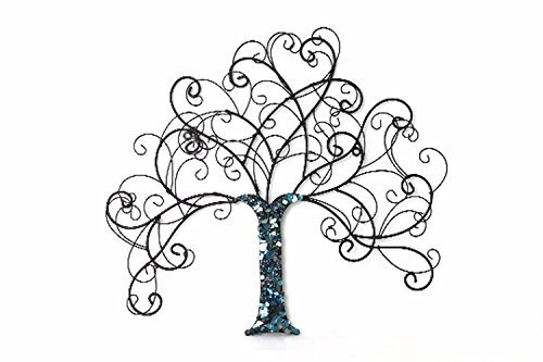 Handmade Recycled Glass Country Chic Tree Of Life Wall Art Repurposed Green