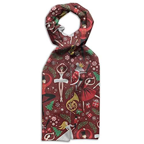 Bufandas de ballet para niños con diseño de cascanueces, de doble cara, para el invierno, para mantener calientes a las...