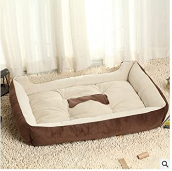GENORTH® Cama para Mascotas, Cama para Perro,Cama para Gatos Color Marron (L 80 * 60 * 15 cm): Amazon.es: Productos para mascotas