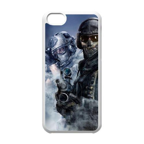Call Of Duty T4L28M4DQ coque iPhone 5c case coque white DF1J8R