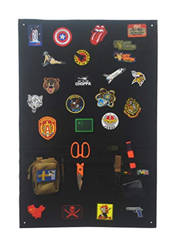 Antrix Upgraded Tactical Morale Velcro Patch Holder Patch Panel Patch Wall Display Board Patch Display Poster Frame Military Hook and Loop Backing Patch Storage Panel Velcro Board- 35x23.4