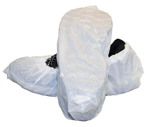 CleanPro Polyethylene Shoe Covers (Pack of 300) (Large, White)
