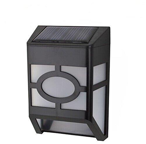 E-Bro® 2 LED Solar Powered Wall Mount Lights Lamp Outdoor Landscape Garden Yard Fence Cool White Light