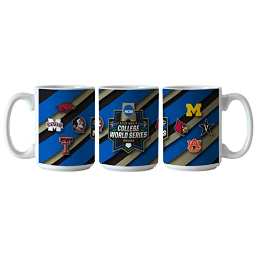 (Boelter Brands 2019 NCAA Men's College World Series CWS 8 Team Ceramic Coffee Mug Cup (15oz))
