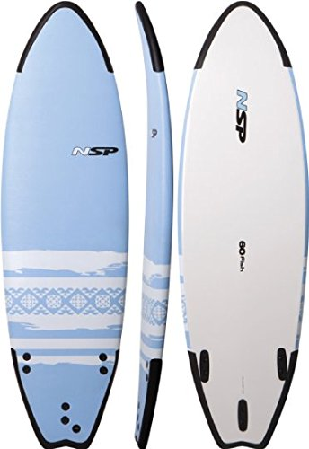 6'0 NSP Soft Surfboard   Beginner Softop   Fish Shape   Includes Fins by NSP