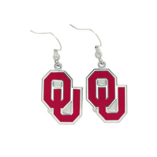 WinCraft NCAA University of Oklahoma Earrings Jewelry Card