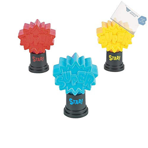 Bargain World Superhero Trophies (With Sticky Notes)