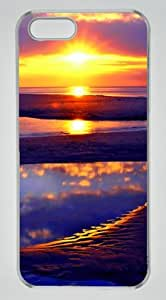 Beach Sun Rise Abstract DIY Hard Shell Transparent iphone 5/5s Case Perfect By Custom Service