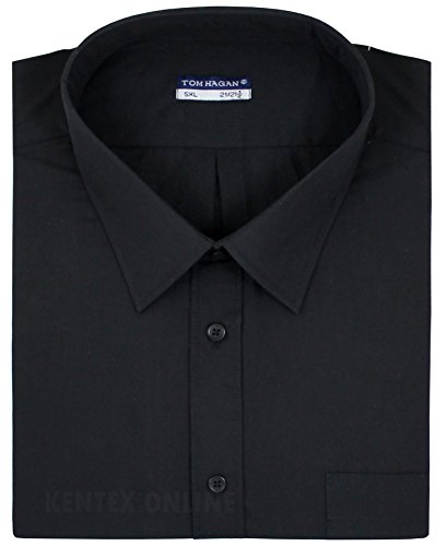 Tom Hagan Men's Formal Shirts Short Sleeve Plain 6Xl (22-22.5) 70 (Toms Wear Button Up Shirt)
