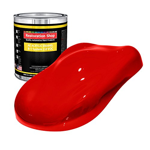 (Restoration Shop - Gallon ONLY - Rally RED Acrylic Enamel Single Stage Car Auto Paint )