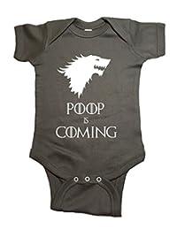 NorthStarTees Game of Thrones Baby One Piece Poop is Coming Bodysuit