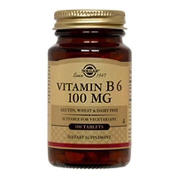 Vitamin B6, 100 mg, 100 Tabs by Solgar (Pack of 2)