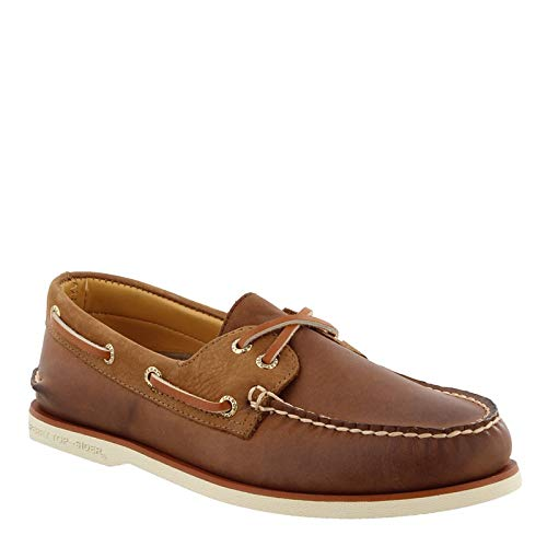 SPERRY Men's, Gold Cup Authentic Original Boat Shoe Chevre Brown/TAN 9 M