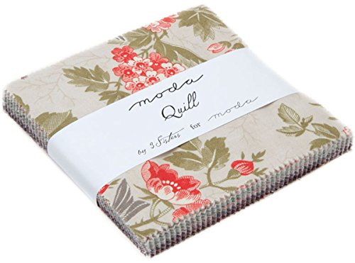 Quill Charm Pack By 3 Sisters; 42-5 Precut Fabric Quilt Squares 3 Sisters Moda Quilt Fabric