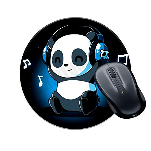 VPRINT QUALITY Round Gaming Mousepad Circle Music Panda Love Printed Multicolour Size 8×8 inches