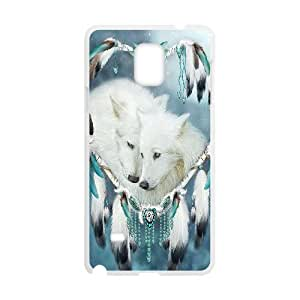 GGMMXO Wolf Dream Catcher Shell Phone Case For samsung galaxy note 4 [Pattern-1]