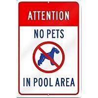 New Metal Tin Sign Aluminum Attention No Pets
