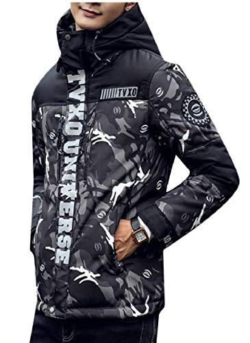 Hooded Gery Jackets security Men's Camouflage Camouflage Coat Jacket Down Jacket qCnatw7