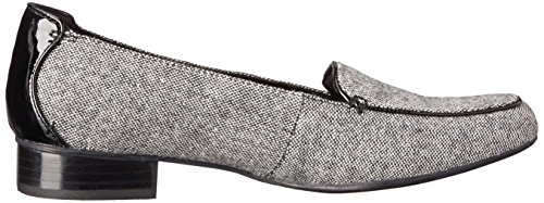 Clarks mujer Keesha Luca Slip-On Loafer Black Tweed Combo