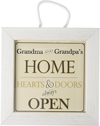 Grandma and Grandpa's Home - Decorative Framed House Sign - Hearts and Doors Always Open