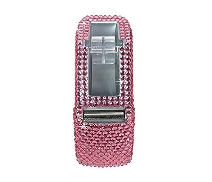 Amazon.com : Desktop Tape Dispenser Rhinestone Heavy Duty Tape Dispenser, Multi Color (Pink) : Office Products