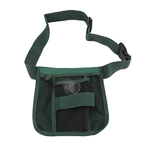 Múltiples bolsillos Bolso de cintura de electricista Herramienta de jardinería duradera Bolso de cintura con cinturón...