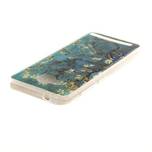 Motif Silicone Slim De Antichoc Résistant TPU Bord 2 Souple II Téléphone Hozor Protection De Transparent Peint Fit En Arrière Cas Couverture Scratch flower Y3 Cas Huawei Y3 Pear BqP6Y