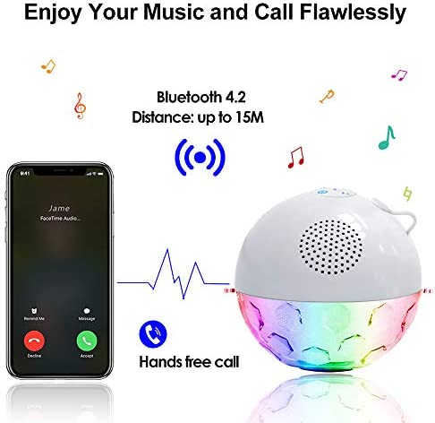 Bluetooth Portable Speaker with RGBW Lights,IPX7 Waterproof Speakers with Dual Drivers,Rich Bass,50ft Bluetooth Range,Built-in Mic,Portable Wireless Speaker for Home Outdoor Pool Hot Tub Shower Travel 41tbSnl643L