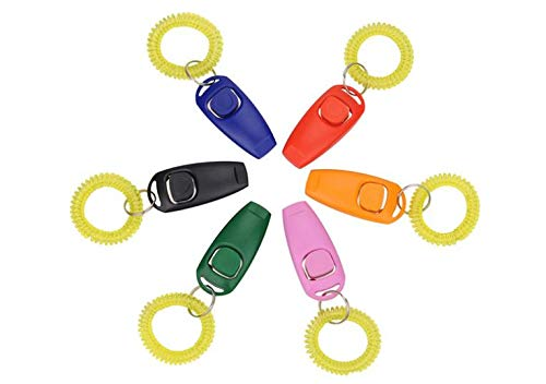 Dog Whistles - 200pcs Lot Animal Pet Click Trainer Dog Training Clicker Amp Whistle Combination Repeller Aid - Hunting Barking Run Makes For Only Deaf Come Call Can by Vuvuke