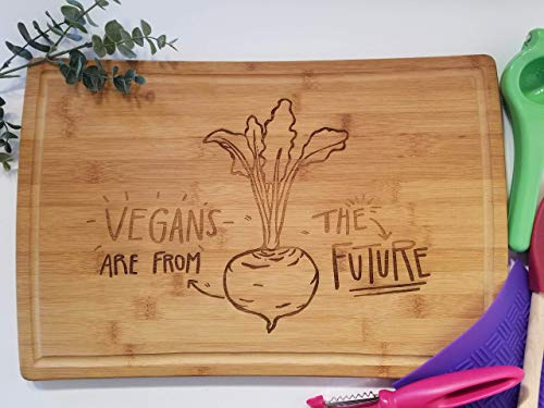 Vegans are From The Future Large Vegetable Cutting Board Set from Splatacular Designs and Crafts