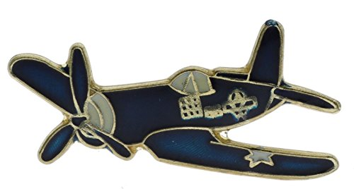 F4U Corsair Fighter Plane 1 Inch Hat Lapel Pin (Plane Hat Pin)