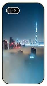 iPhone 6 Dubai skyline with fog - black plastic case / Nature, Animals, Places Series