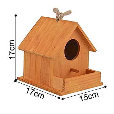 FDCLD 1Pc Parrot Breeding Decorative Cages Hamster Nest Home Cute Pet Accessories Wood Parrot Bird Cages Bird House Nest Round Window