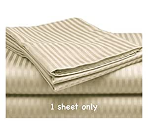 king size 15 deep fitted sheet only 100 cotton sateen 300 thread count ivory. Black Bedroom Furniture Sets. Home Design Ideas