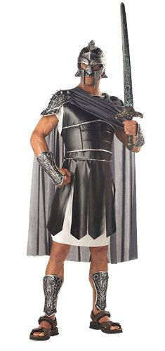 Gladiator Costumes Accessories (California Costumes Men's Centurion Costume, Black/Silver, Medium)