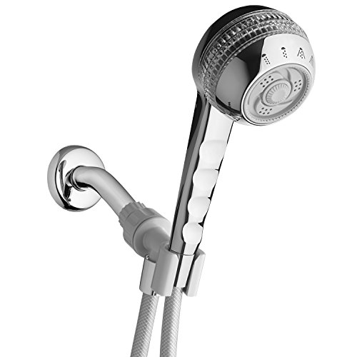 Waterpik SM-453CG Original 4-Mode Massage Handheld Shower, Chrome/Crystal