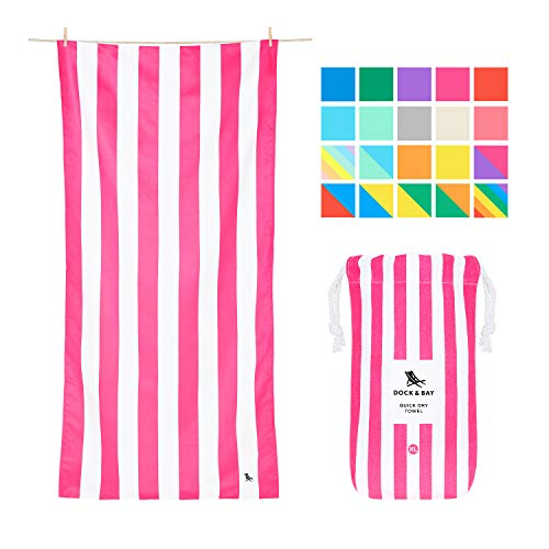 Dock & Bay Quick Dry Towel for Beach - Phi Phi Pink, Extra Large (200x90cm, 78x35) - Sand Proof Beach mat, Fast Drying Towels, Cabana - Phi Phi Pink (Beach Embroidered Towels)