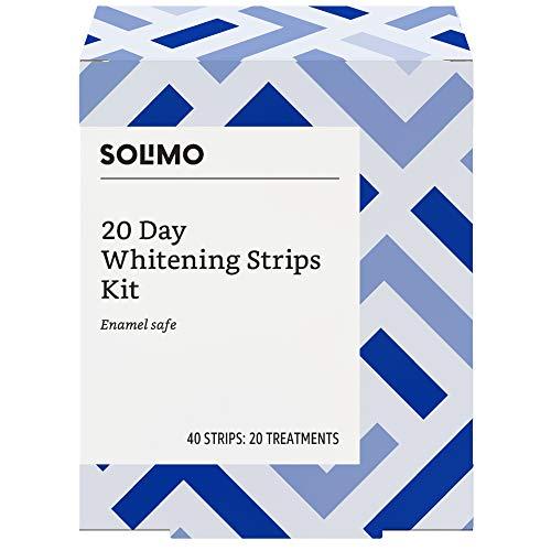 Amazon Brand - Solimo 20 Day Teeth Whitening Strips Kit, 20 Treatments ()
