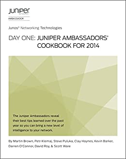 Day One: Juniper Ambassadors' Cookbook for 2014, Martin