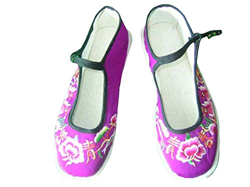 100% Fait Main Chaussures Femme Espadrille Ballerines Ethniques Chinoises #139