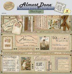 Almost Done Scrapbooking (Almost Done Scrapbook Page Kit - Heritage)