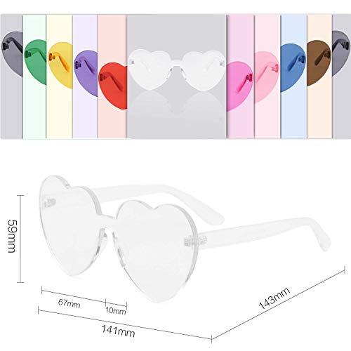 De Mujer De SOJOS Gafas Forma Para Sol Corazón Plástico Transparente SJ2055 5xTaq