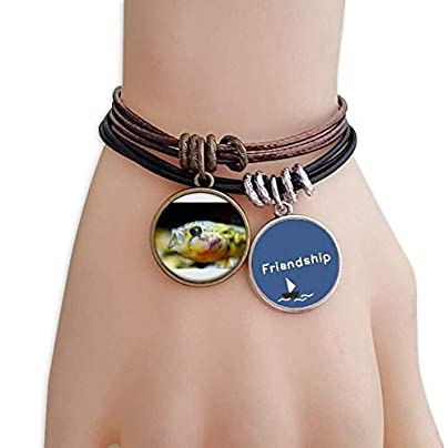YMNW Marine Organism Small Tropical Fish Friendship Bracelet Leather Rope Wristband Couple Set Estimated Price -