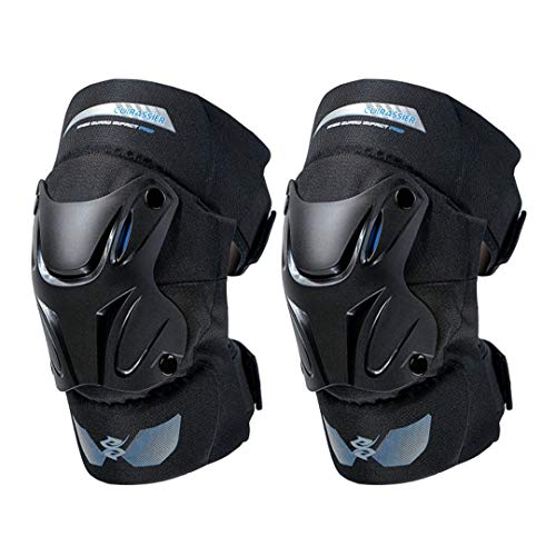 - Motorcycle Knee Elbow Pads Motocross Kneepads Protector Shin Guards Protective Gears Paintball Skating Racing Riding K01-2-Coral Blue Free Size