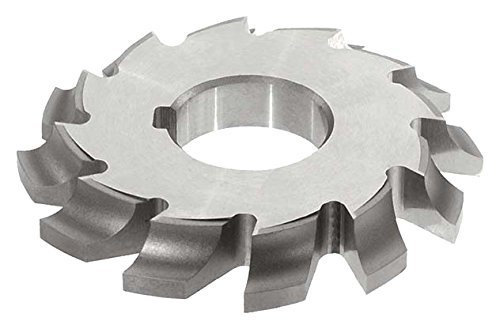 1//2 Circle Radius 10 Teeth 3//4 Width KEO Milling 14130 Left-Hand Cutting Corner-Rounding Milling Cutter,CL Style 4-1//4 Cutting Diameter 1-1//4 Arbor Hole Uncoated Coating HSS