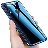 Mobistyle Samsung M40 Cover, Electroplating Soft Silicone Transparent TPU Back Case Cover for Samsung M40 (Blue)