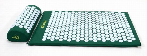 Ashoka Acupressure Mat and Pillow Complete Set, Green -