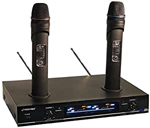 pyle pro pdwm3000 dual vhf rechargeable wireless microphone system musical. Black Bedroom Furniture Sets. Home Design Ideas
